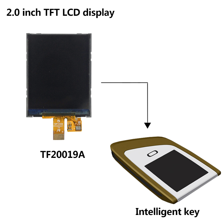 [In Stock]Topfoison HOT Digital small 2.0 inch TFT LCD display with 200cd/ms luminance for Smart Home