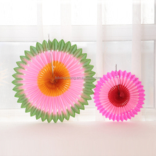 Wall hanging festival colorful tissue paper fans decoration for festival