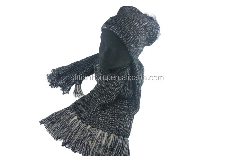 Knitting Pattern For Hat With Scarf Attached : Cheap Price Custom Hot Selling Woolen Knitted Hat Scarf Attached - Buy Woolen...