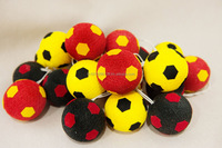 Ready for Football World Cup 2014 Lighting string of yarn ball mix colors originally handmade for home, patio party decoration