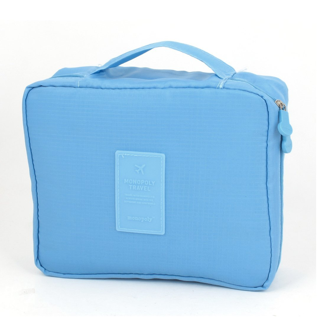 Travel Toiletry Toiletries Cosmetic Shaving Wash Bag Case Sky Blue
