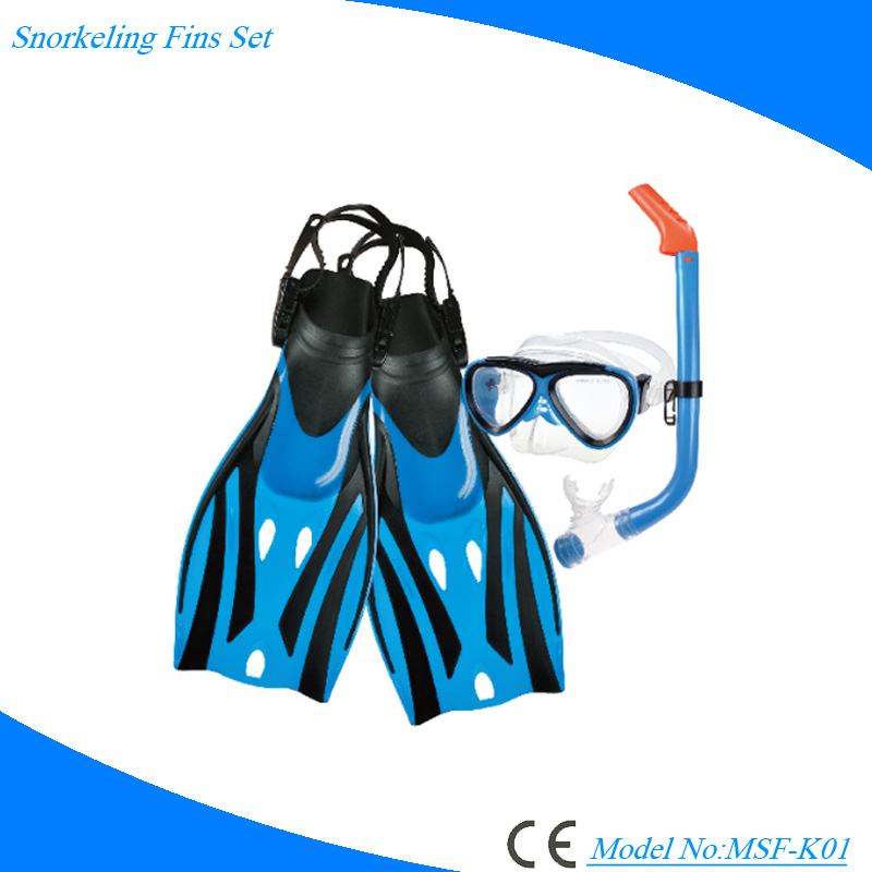 Kids diving set seaview anti-fog dive mask swim fins snorkel set