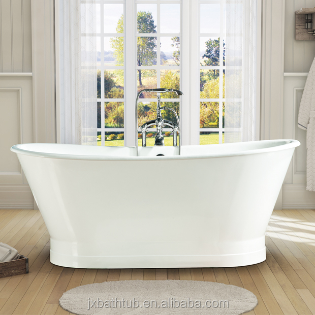 freestanding cheap cast iron shower pan ceramic bathtub and shallow shoe bathtub poland china