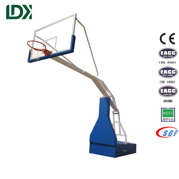 Custom print toughened glass youth portable basketball stand
