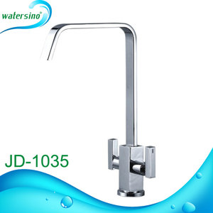 kitchen sanitary products square design double holder kitchen tap mixer