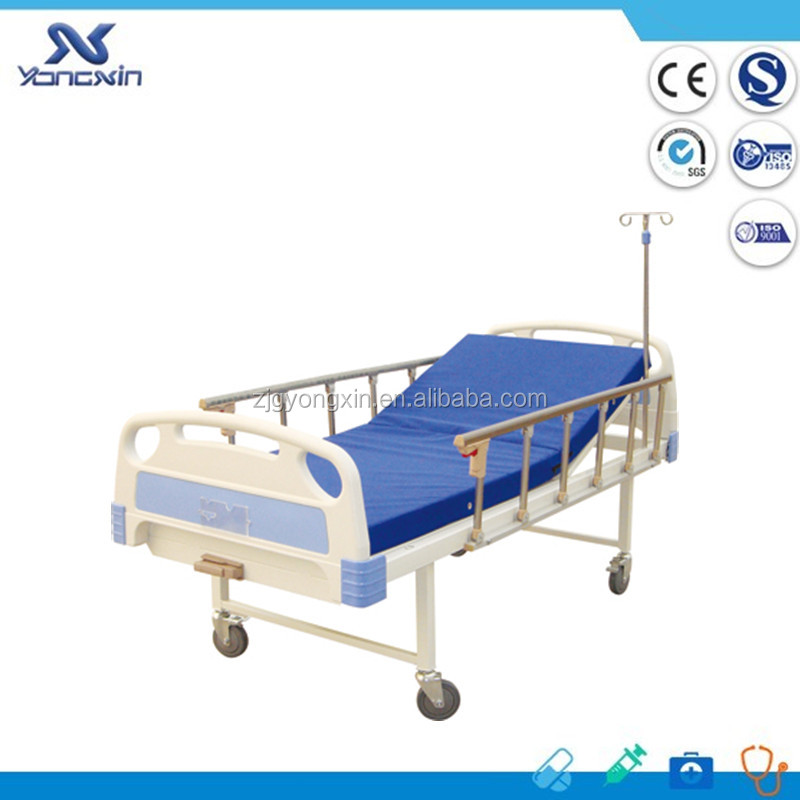 YXZ-C-022 Backrest adjustable single crank hospital bed one crank