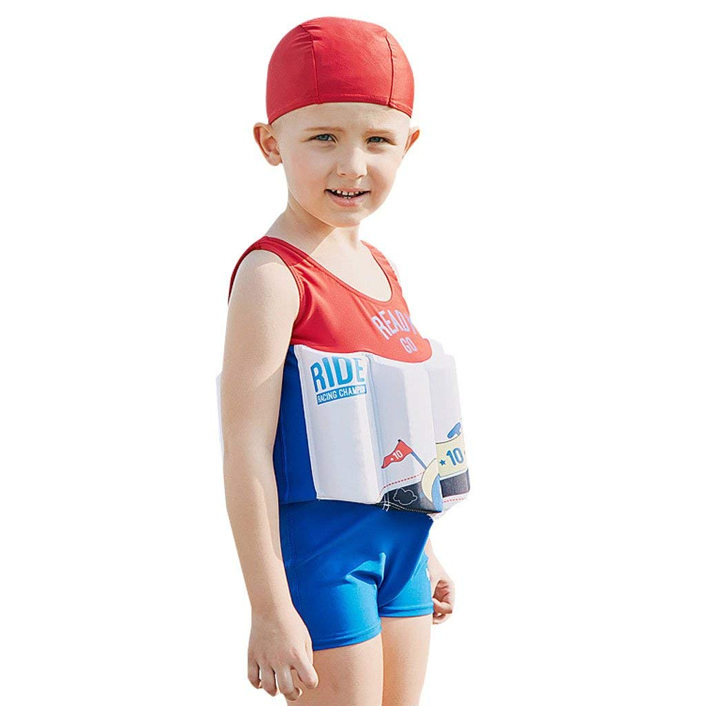 c57107084c Get Quotations · IvyH Boys Floating Swimsuit - Baby Kids One Piece Buoyancy  Swimsuit Beach Costume Kids Swimming Sleeveless