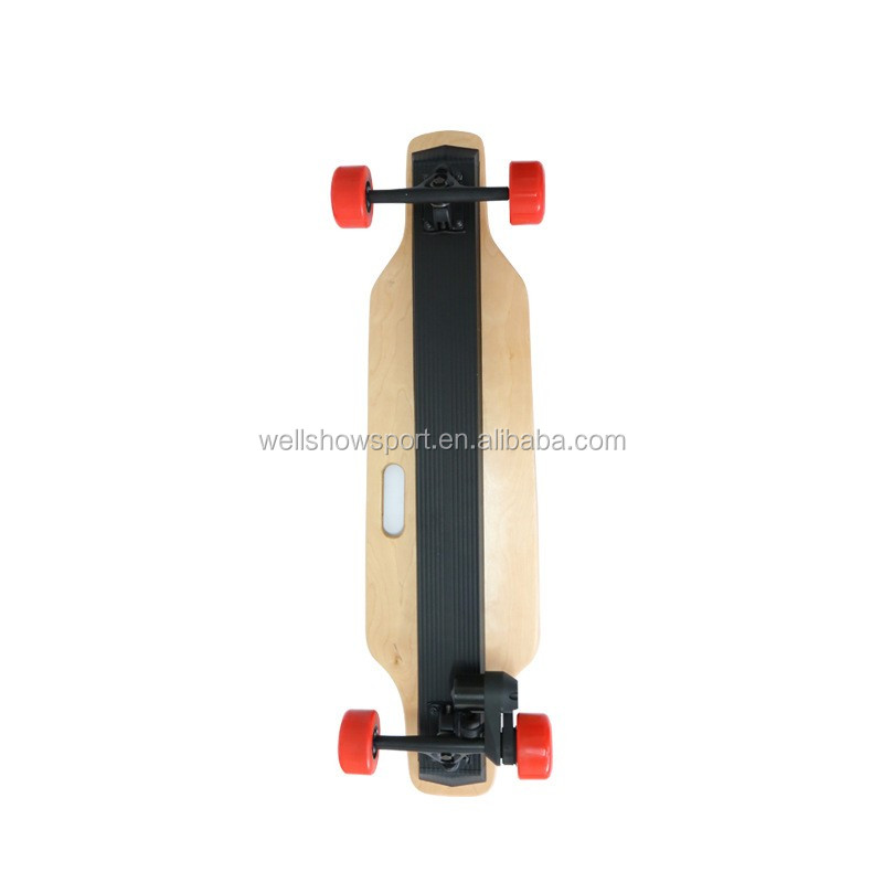 Wellshow Sport Remote Control 4 Wheels Electric Skateboard Longboard LG Battery 2x1000 watts Double Motor Skate Board