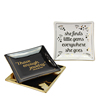 Home collection square shape golden letter design italian jewelry tray small ceramic dishes