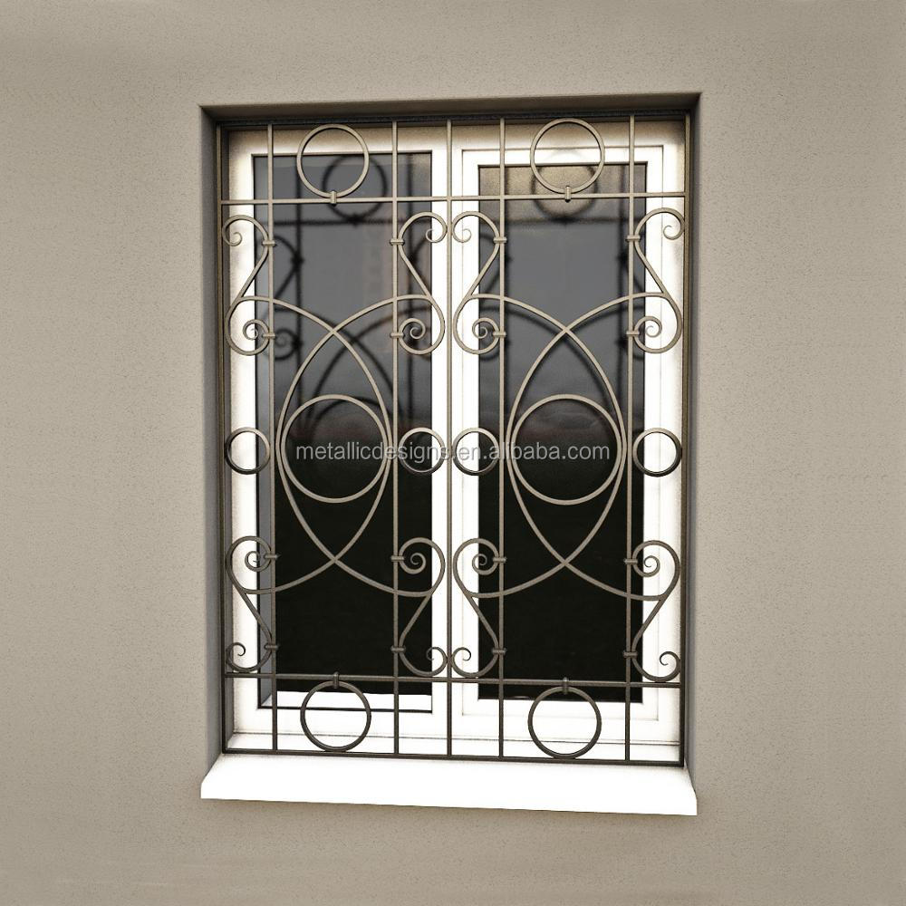 New Style Forging Iron Window Grills Design For Sliding