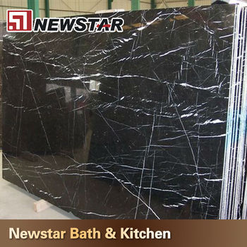 Polished Black Granite With White Veins