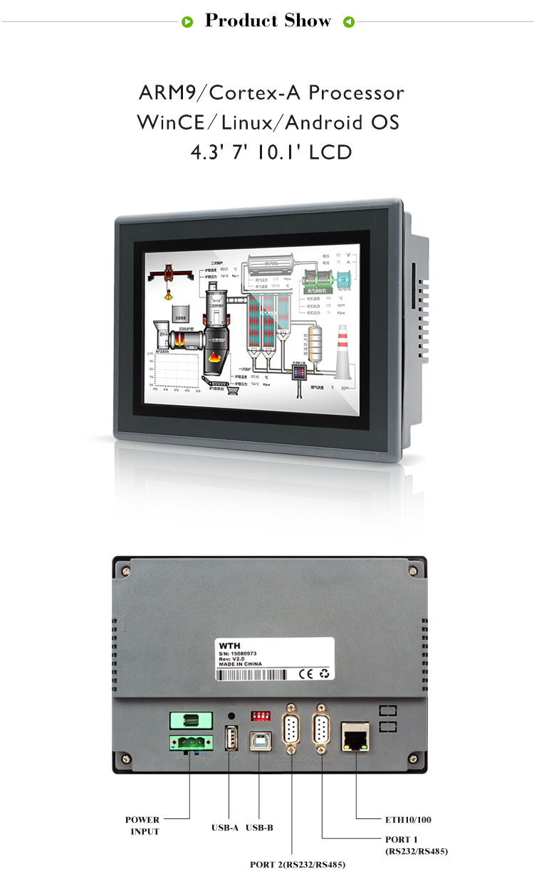 Cheap Price Advanced Industrial 7 Inch Tft Hmi For Plc Suppliers ...