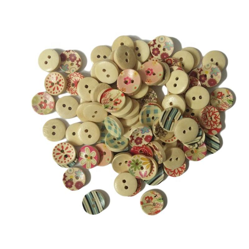 Botones Redondos con Ancla grabado en 4 Colores 4 Agujero Botones Tamaño 15mm Novedad