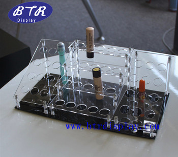Clear Acrylic Lipstick Holder Display Stand Countertop lipstick display
