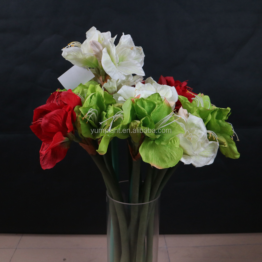 Factory Direct Sale Artificial Silk Amaryllis Flowers Buy