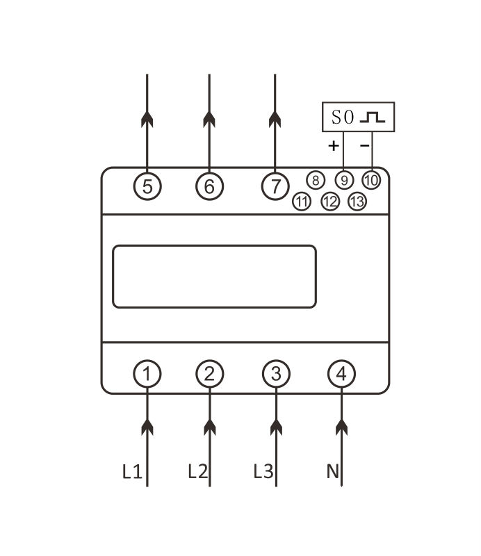 100a Three Phase Din Rail Kwh Meter Pulse Output Sdm630d