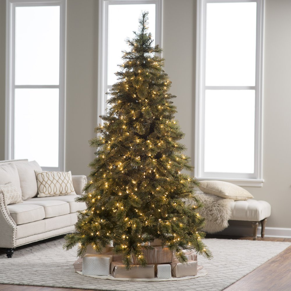 7.5 ft. Pre-lit Mixed Needle Gold Glitter Cashmere Pine Christmas Tree by Sterling Tree Company