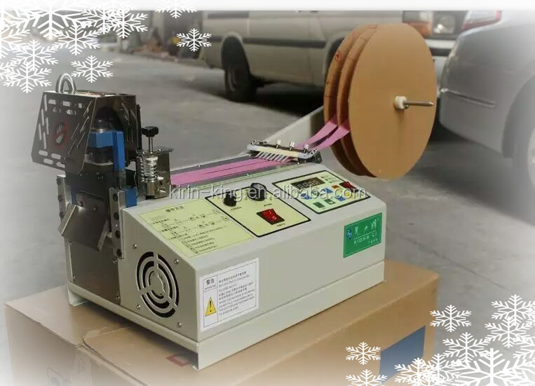 Fully Automatic Ribbon Belt Cutter / Clothing Brand Cutting Machine