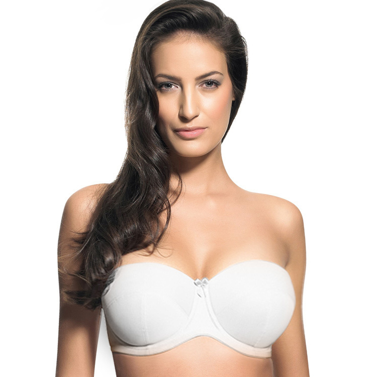 79089ec0f0 Strapless plus size large cup bra white invisible underwear bra for woman