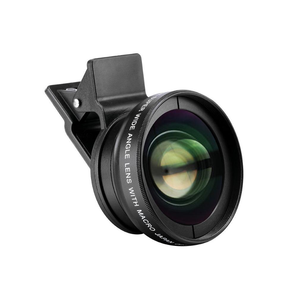 0.45X2 In 1 Hd Kamera Lensa Kit untuk Iphone 6S 12.5x Makro Lensa