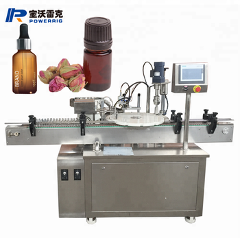 Automatic 10ml 60ml eliquid glass dropper bottle filling plugging capping and sealing machine for e-liquid filling