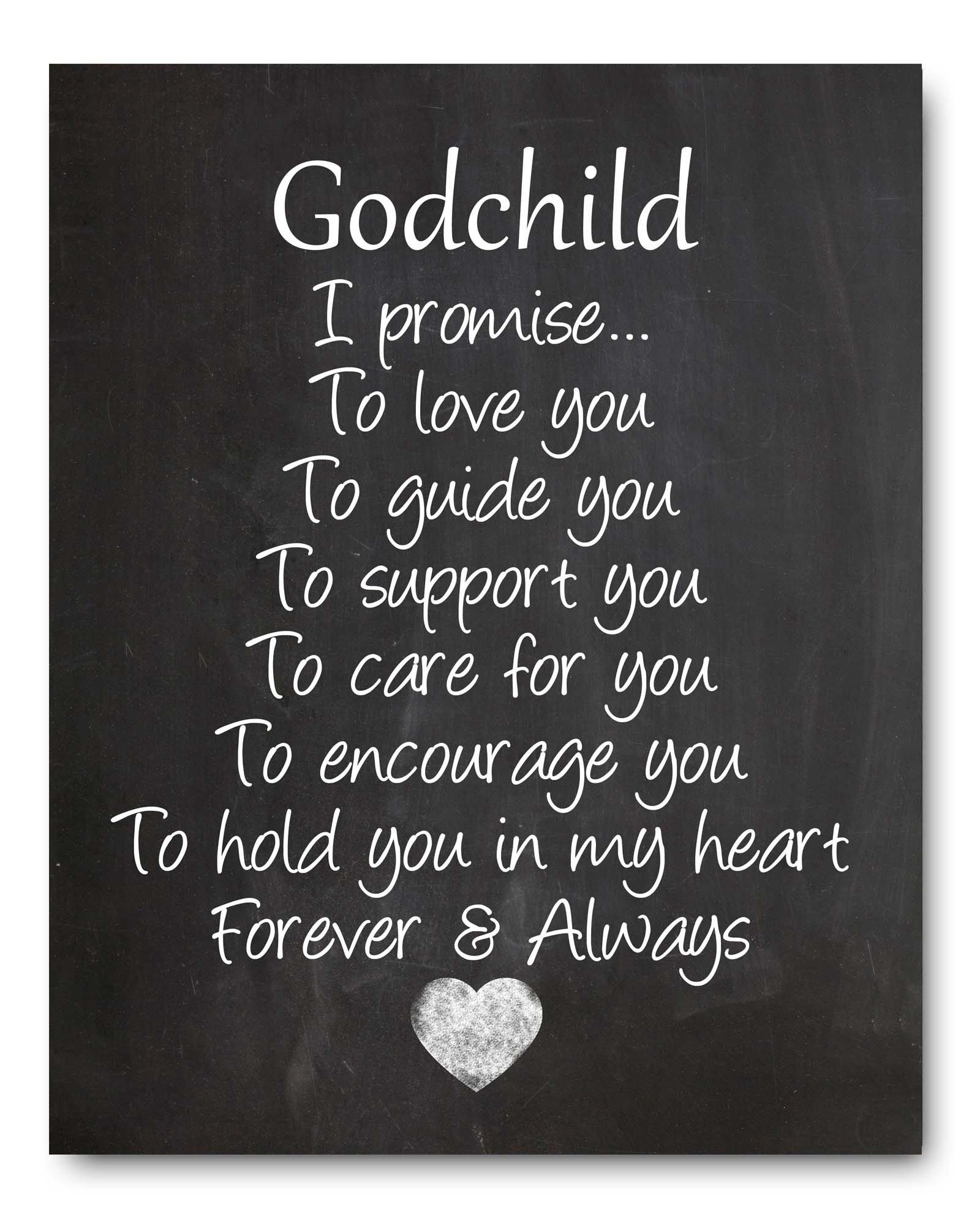 Godchild Gift Godchild Quote Chalkboard Print, Perfect Christening/Baptism Gift for Godson / Goddaughter from Godparents for New Baby Gift or Baby Shower Gift