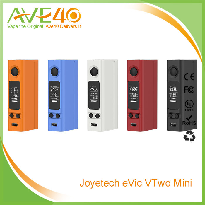 Joyetech new launched evic VTwo mini battery mod updated from original evic vtc mini in 75 watts Ave40
