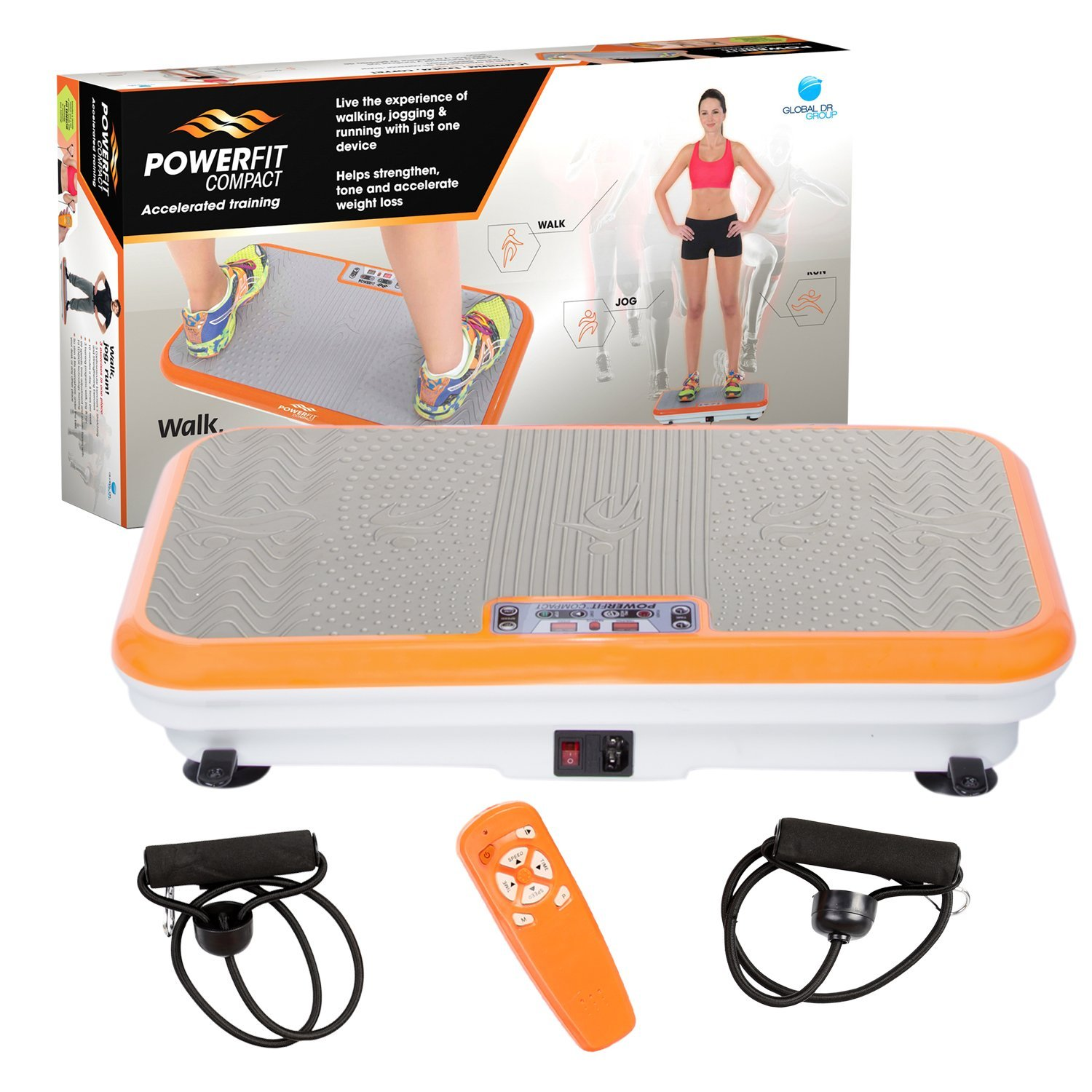 3063ea5bc1ba2 Power Fit Platform Fitness Plate - Full Body Vibration Machine - Exercise  Workout Gym Trainer