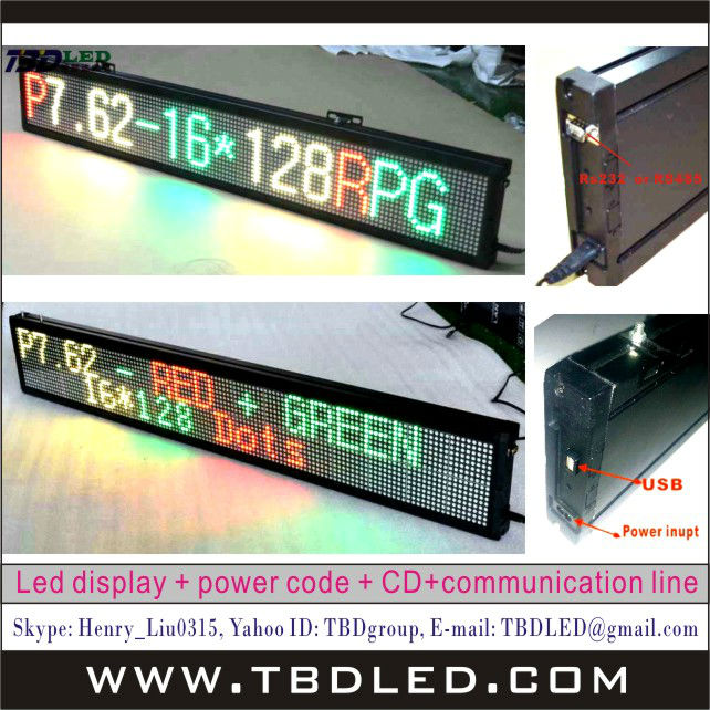 Hot sale world language LED Mini sign with Steel Stand,led running message display