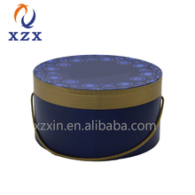 wholesale Custom Logo round cylinder paper Hat luxury gift Boxes for flower packaging