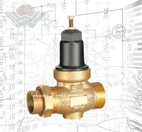 Installation versatility Bronze Water Pressure Reducing Valve with Integral By-Pass Check Valve and Strainer