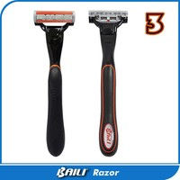Shaver with 3 heads blades Manual Razor Safety ,environmental Razor Manual Women Razors