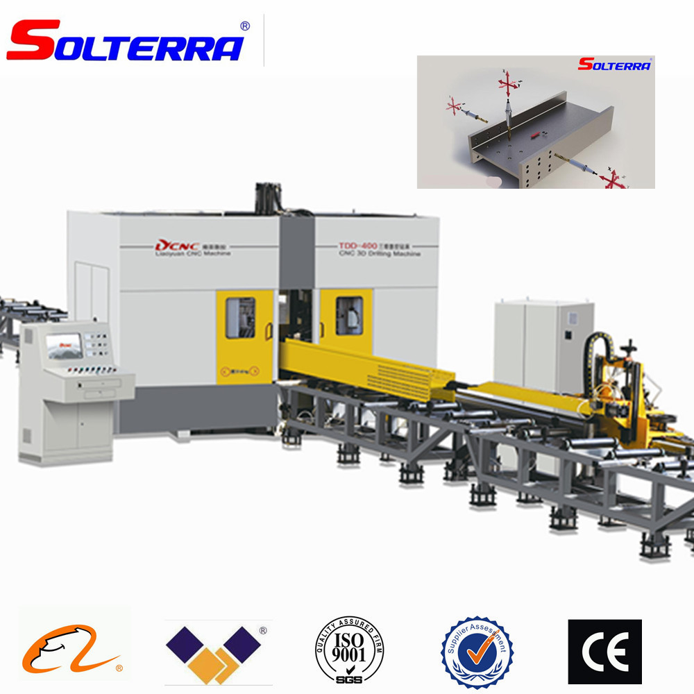 CNC H Beam Cutting Drilling Production Line for Steel Structure