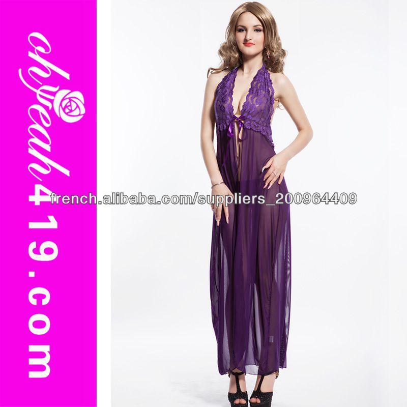 La conception de charme violet couleur transparente bas du dos en satin tr s - Photo de charme en couleur ...