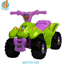 WDTR1103 Comfortable Rechargeable Electric 4 Wheel Motorcycle Sale With Plastic Cheap