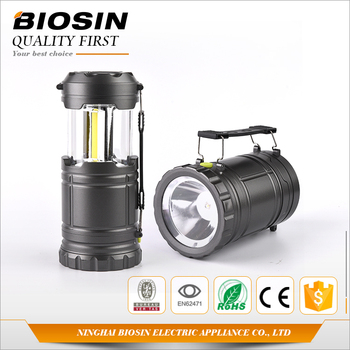 BIOSIN new arrival 3w 350 lumen battery operated led lanterns camping lights with 1w 80 lumen led flashlight