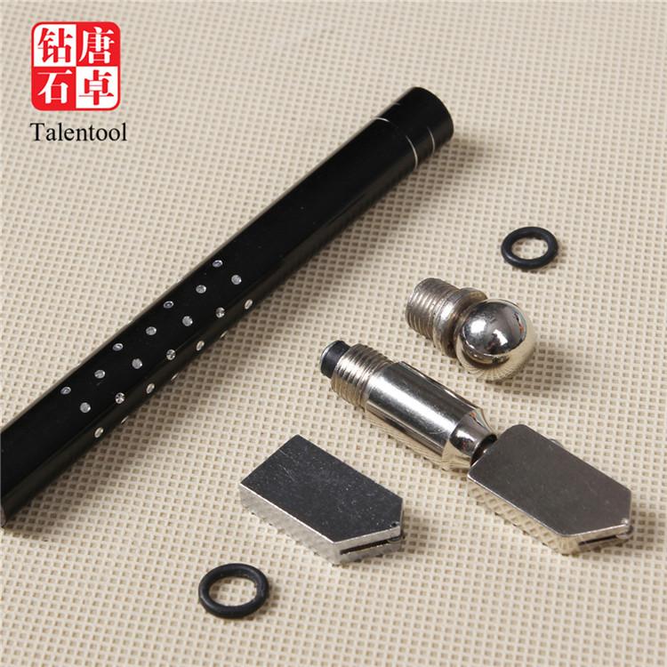 Talentool quality hand glass cutter oil feed glass cutter cutting tool