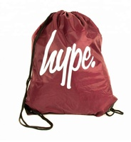 Personalised School Sack Sports Swim Bag Drawstring Gym Bag for kids with logo printing and SMALL MOQ