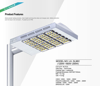 LED Street light 120W 96pcs LX-SL96C IP65
