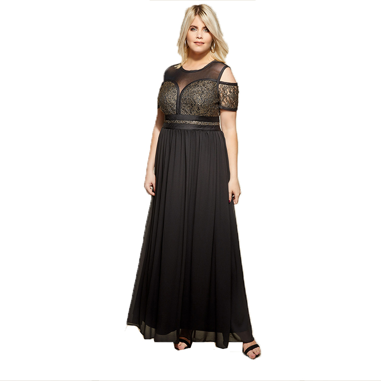 Plus Size <strong>Women</strong> Black Maxi Dress Mesh <strong>Lace</strong> <strong>Women</strong> Big Size <strong>Clothing</strong>