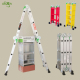 EN131 Adjustable Multipurpose Aluminium Alloy Folding Ladder 4X3 4x4 4x5 Step With Big Small Hinge