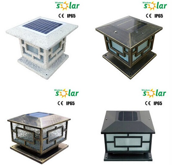 Outdoor Led Garden Lights Decorative Solar Fence Post Light With ...