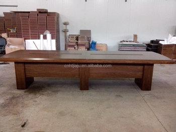 De haute qualité en bois massif bureau meubles forme longue table de