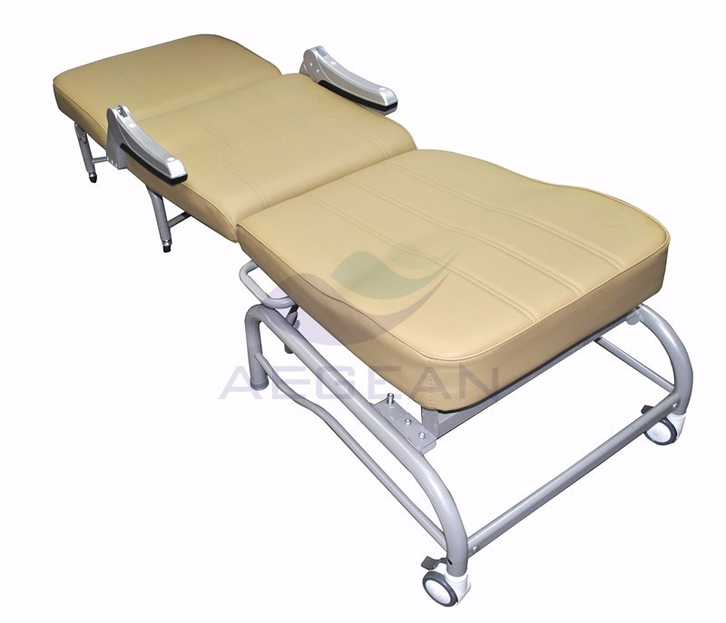 AG-AC005 Color option folding hospital patient ward room sleep used accompany bed chair