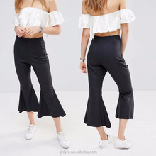 Anly Wholesale Palazzo Pants High-rise waist Crop Kick Flare Pants