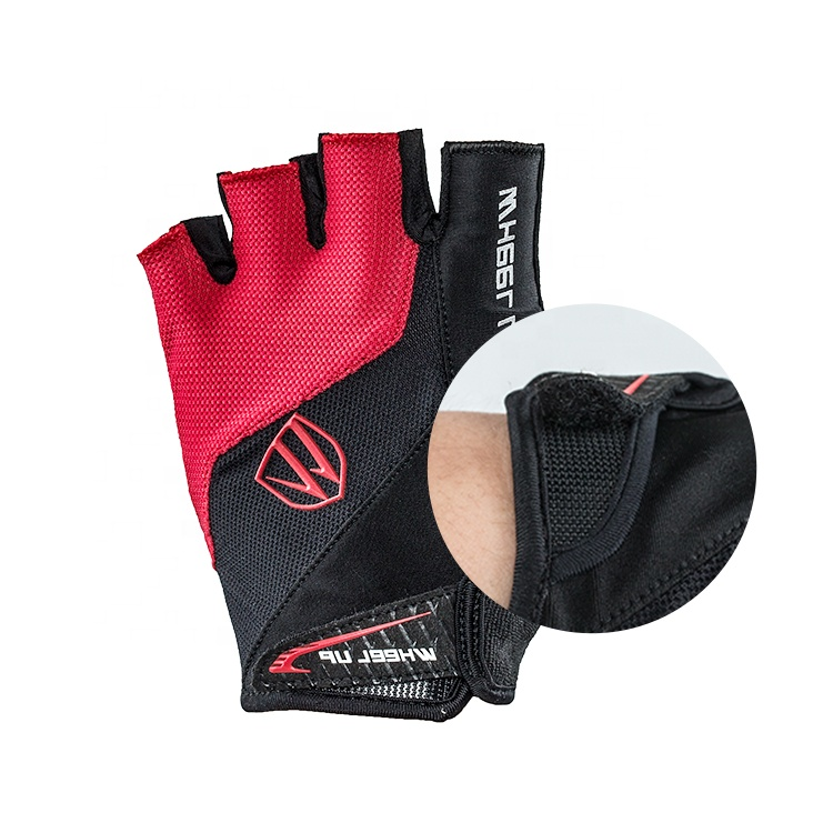 WHEEL UP Cycling Gloves Half Finger Summer Men Women Breathable Lycra MTB Road Sports Washable Bike Bicycle gloves