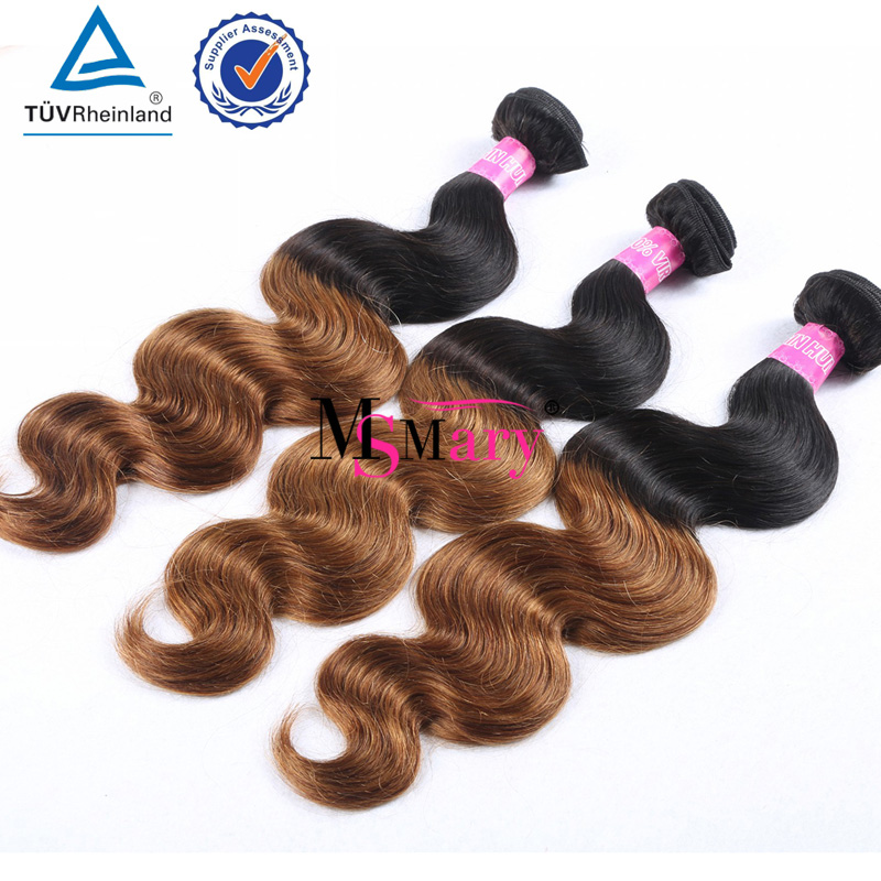 Beautiful Hair Color Wholesale Two Tone 1b 30 Ombre Brazilian Human Hair Extensions