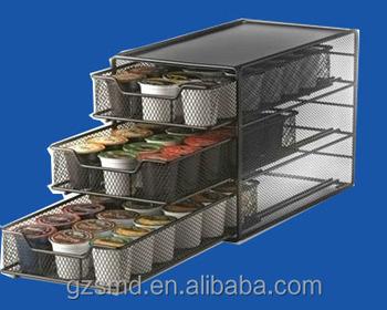Ekobrew Keurig K Cup Storage Drawer Coffee Holder For 54 K Cups (Grey