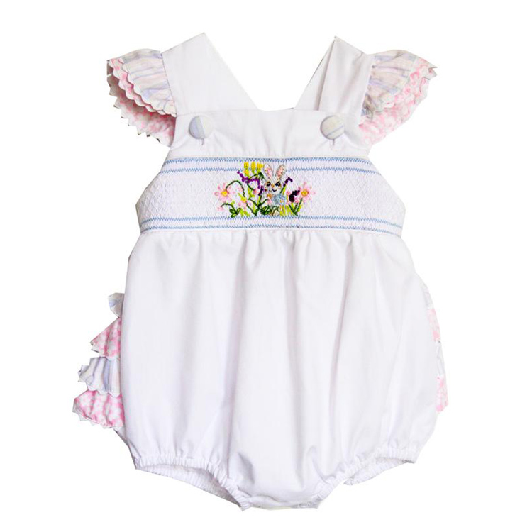 FREE SHIPPING Smocked Bunny Bubble Smocked Easter Bubble