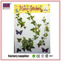 Artistic PVC sticker decorative wall sticker flower rattan wall sticker
